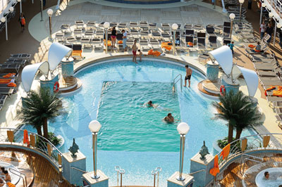 MSC cruises - the sundeck on the ship Poesia