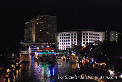 A scene at the Winterfest Boat Parade