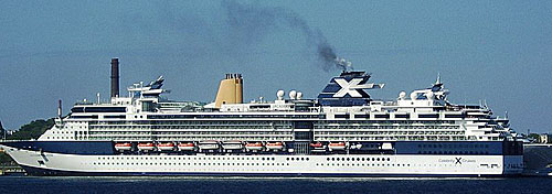 A Celebrity cruise at sea