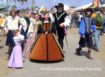 A royal family at the Renaissance festival.