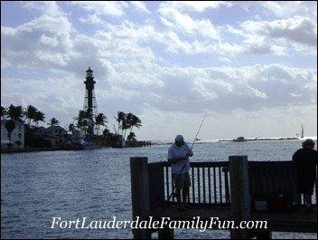 Hillsboro Beach and early morning anglers