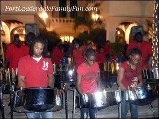 Steel drummers perform at Christmas on Las Olas